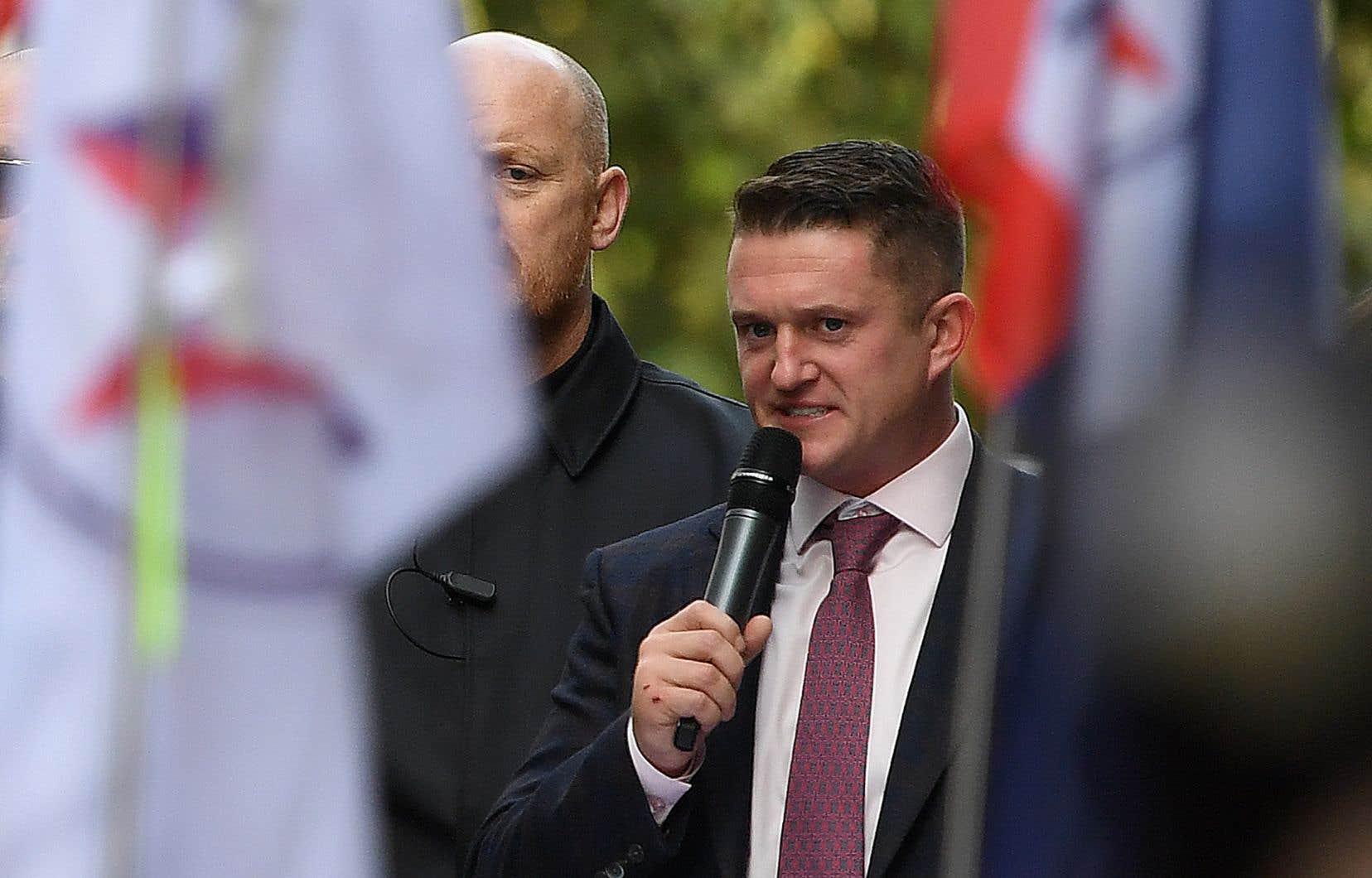 Stephen Yaxley-Lennon, alias Tommy Robinson,est le fondateur de l'«English Defence League», un groupe marginal affirmant lutter contre la menace islamiste.