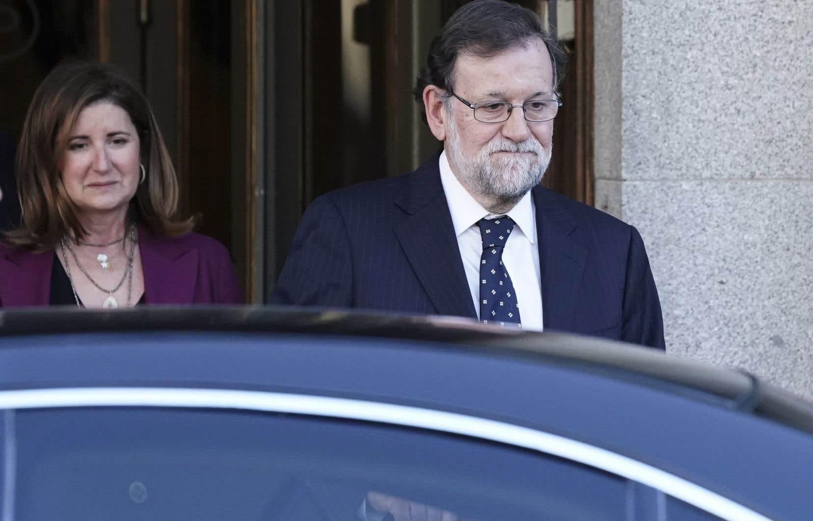 C'était au tour de l'ancien chef du gouvernement espagnol, Mariano Rajoy, de témoigner au procès des indépendantistes catalans.