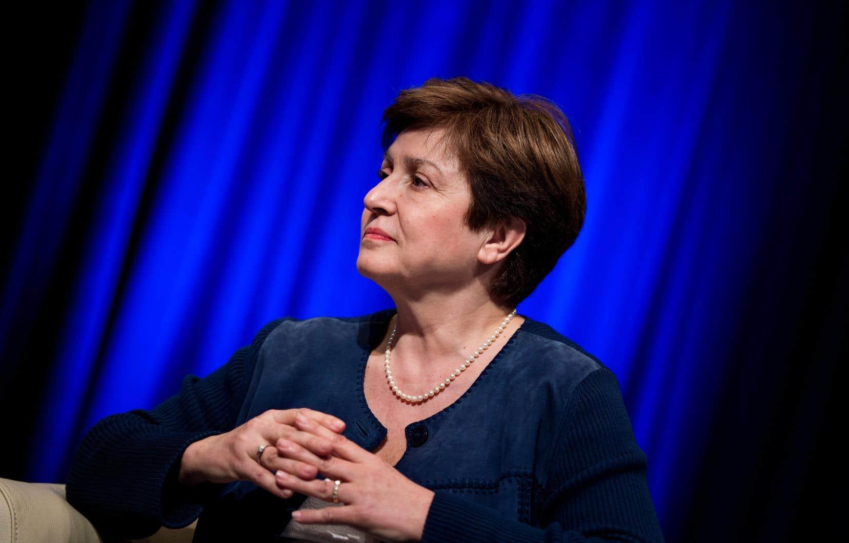 La présidente par intérim de la Banque mondiale, Kristalina Georgieva.