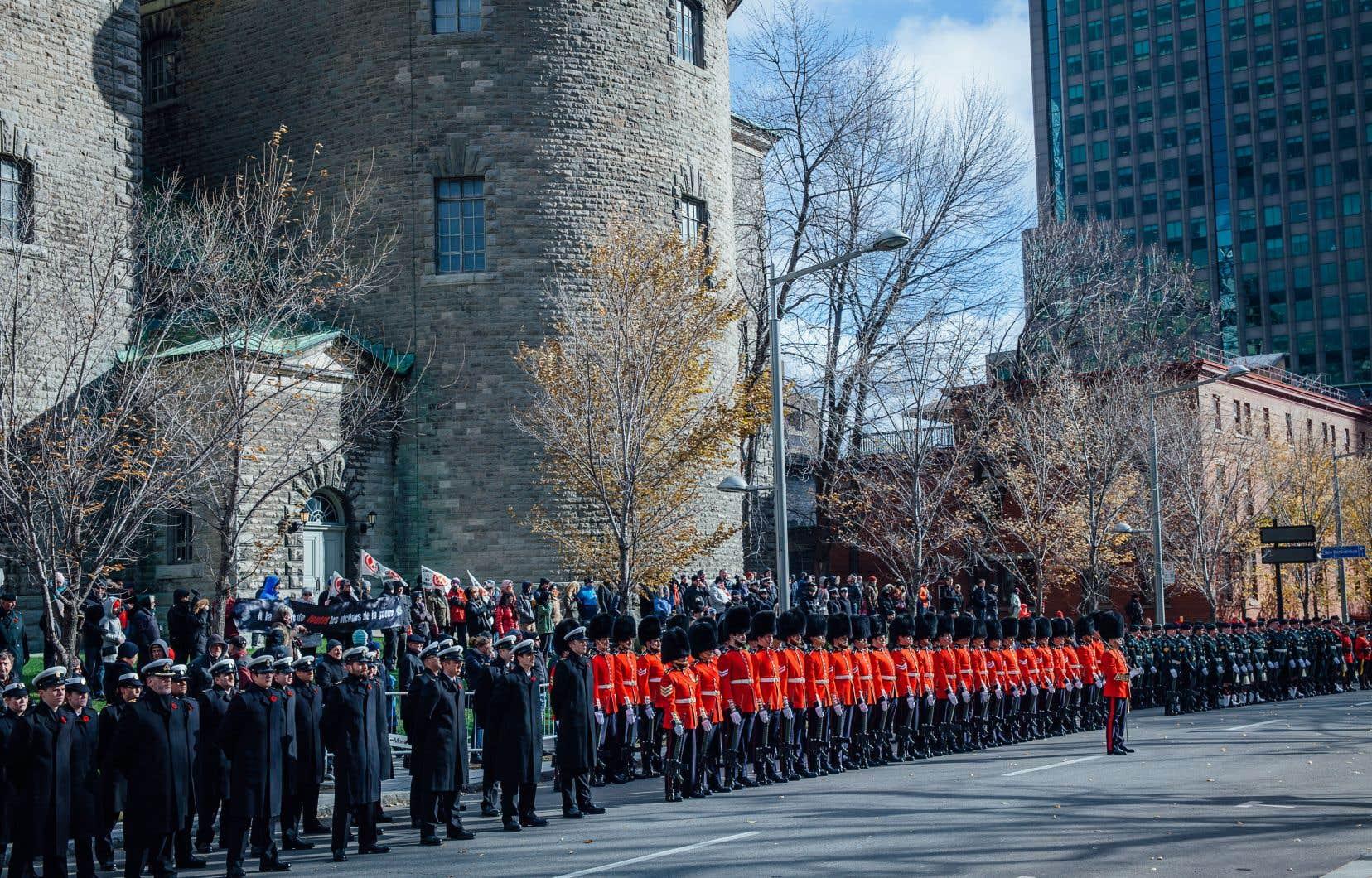 Cérémonie du jour du Souvenir, place du Canada, Montréal, novembre 2018