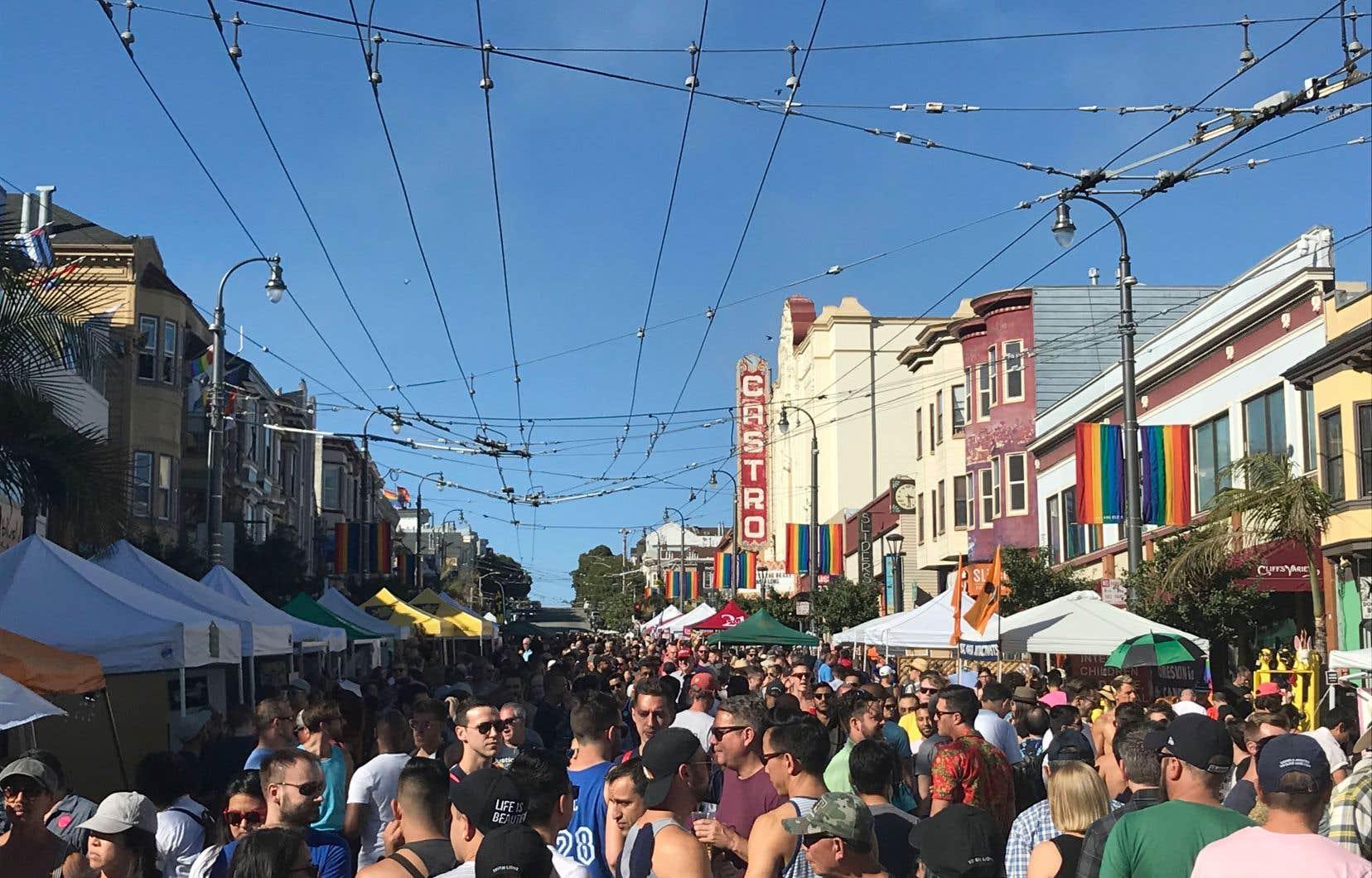 Dans Castro, épicentre gai d'une ville qui l'est plus que toute autre au monde, c'est la fête sous un soleil pétant de rayons UV.