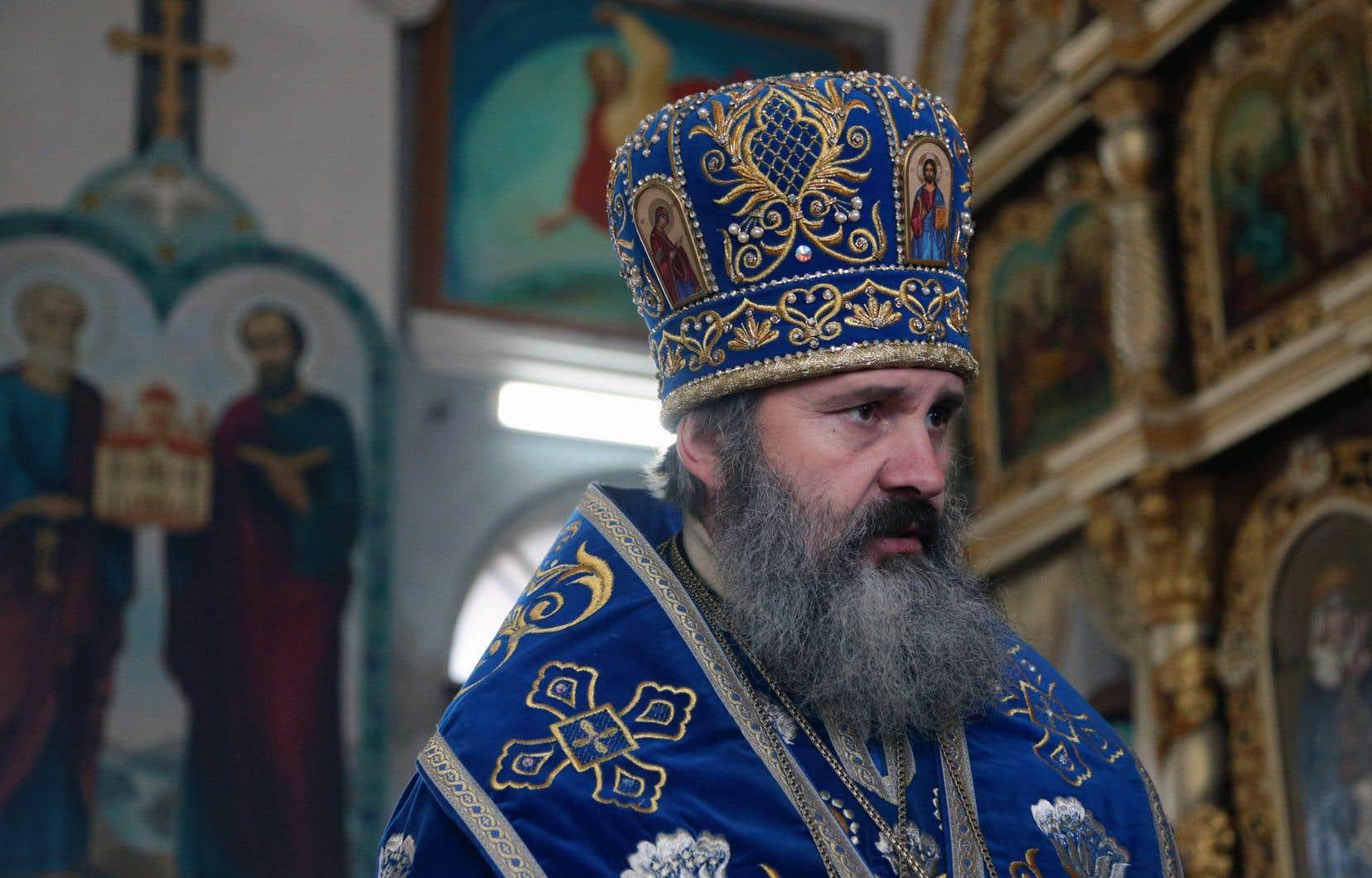 L'archevêque Kliment photographié le 15février, à Simferopol