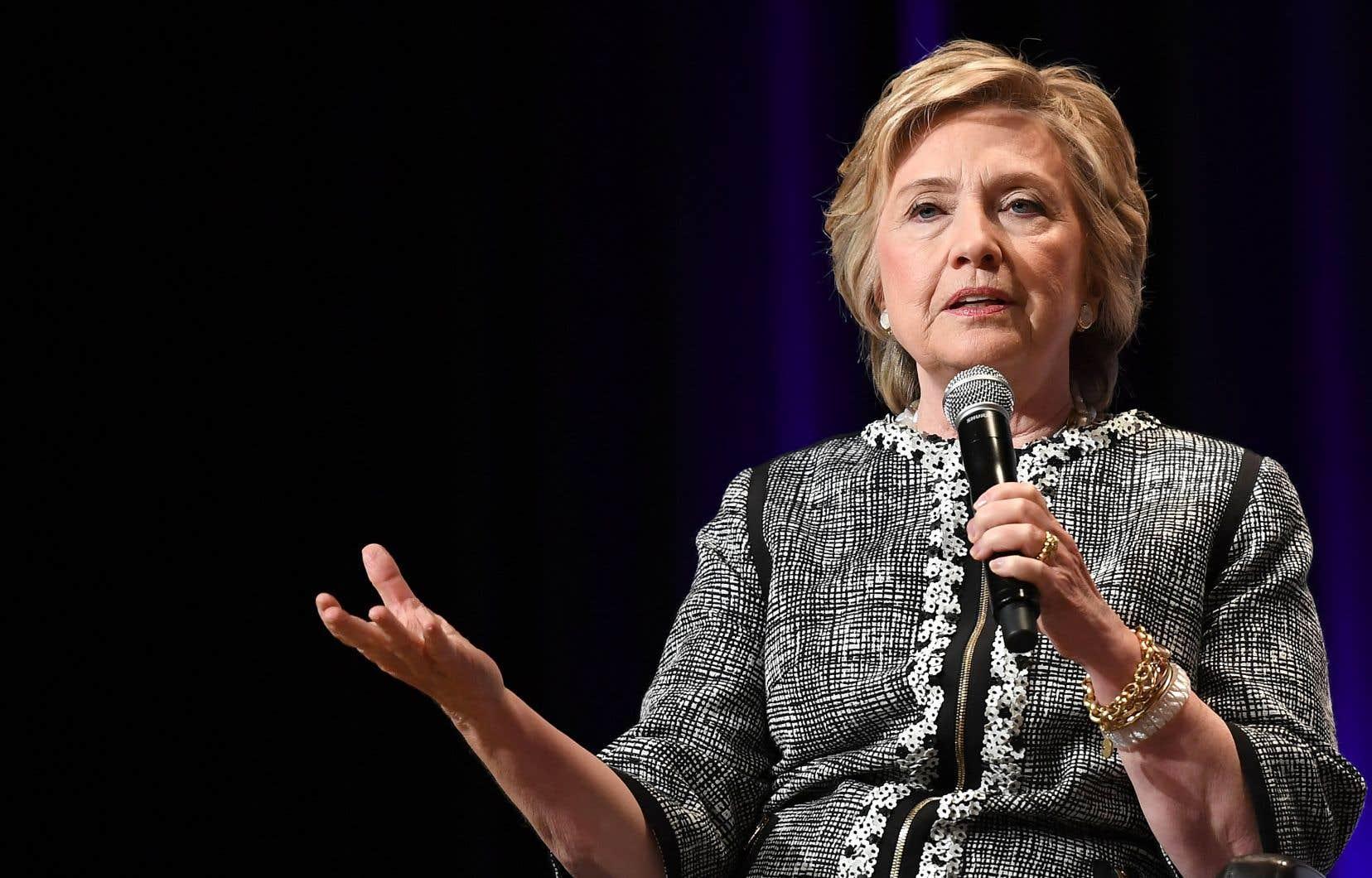 L'ex-candidate démocrate à la présidence américaine, Hillary Clinton
