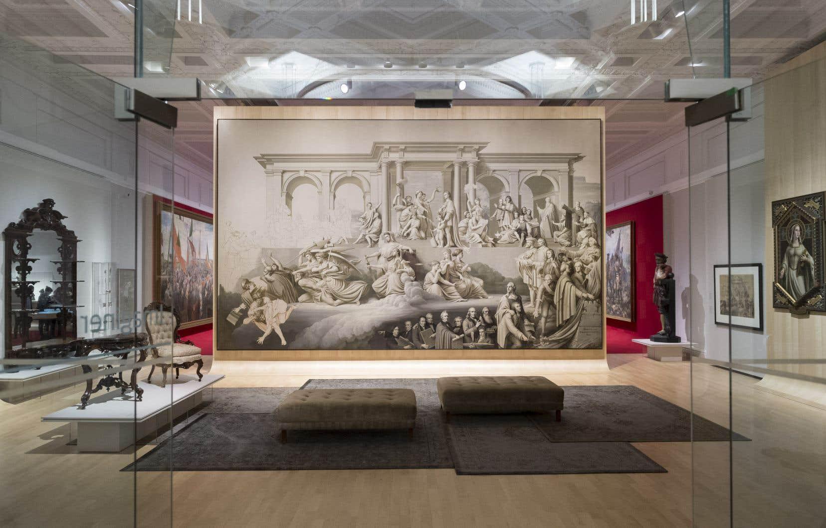 Exposition «350 ansde pratiques artistiques» au Québecdu Musée nationaldes beaux-arts du Québec