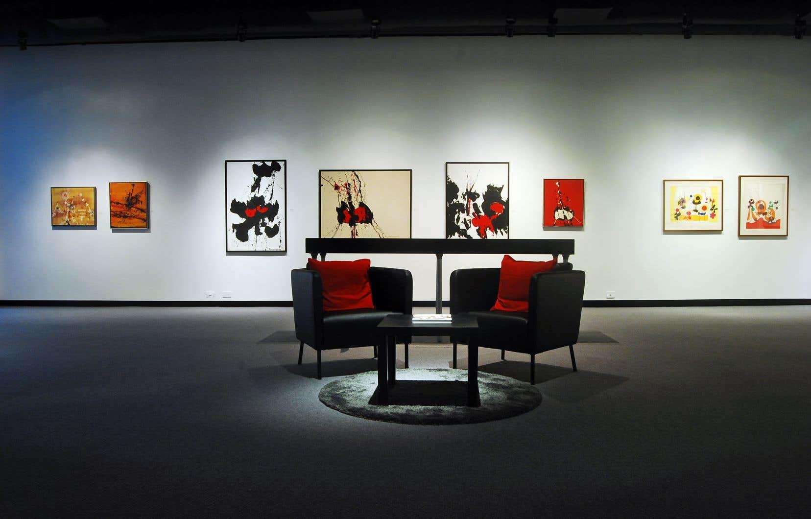 Vue de l'exposition Rétrospective Michel Bourguignon, affichée jusqu'au 13 mars au Musée des beaux-arts de Mont Saint-Hilaire.