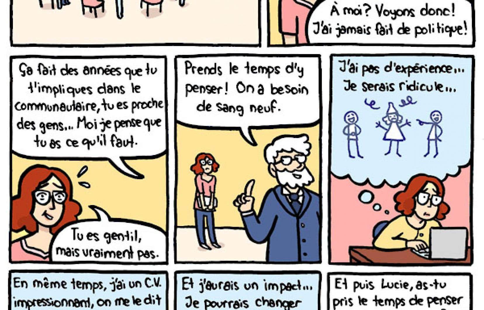 Extrait de la bande dessinée publiée par l'Union des municipalités du Québec à l'occasion de la Journée internationale des femmes.