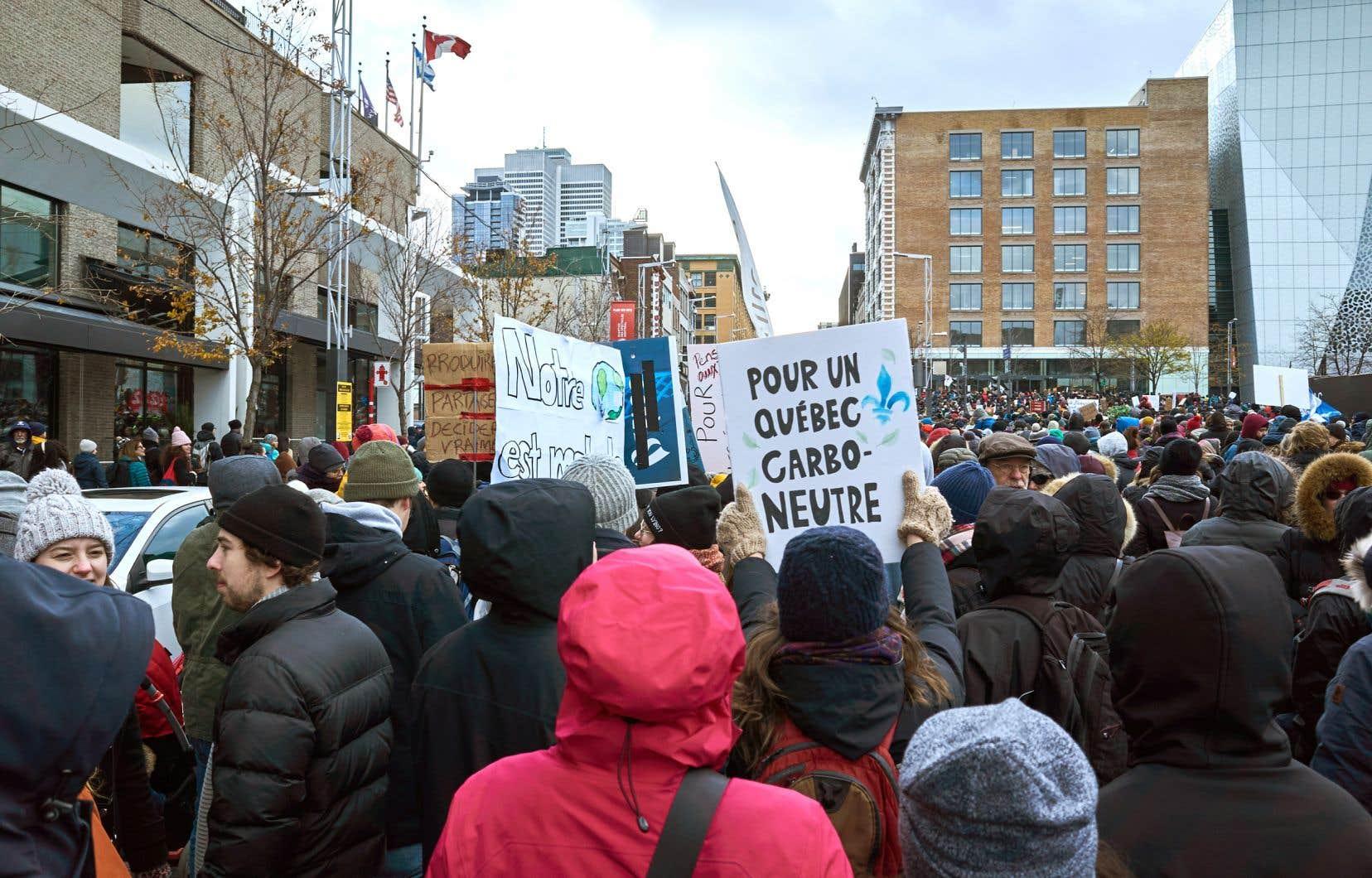 La marche pour le climat de novembre dernier, à Montréal