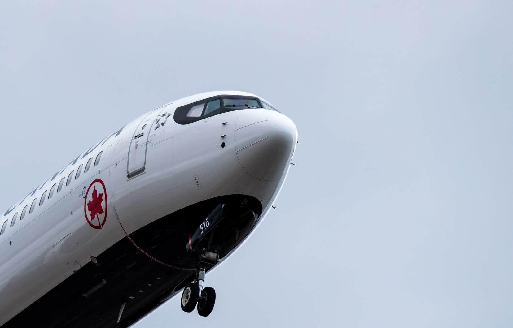 Un avion Boeing 737 Max 8 d'Air Canada