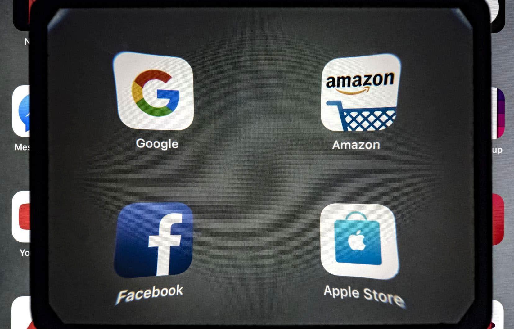 Les GAFA (pour Google, Amazon, Facebook et Apple) se font reprocher de profiter du caractère immatériel de leurs activités pour réduire artificiellement leurs impôts à payer.