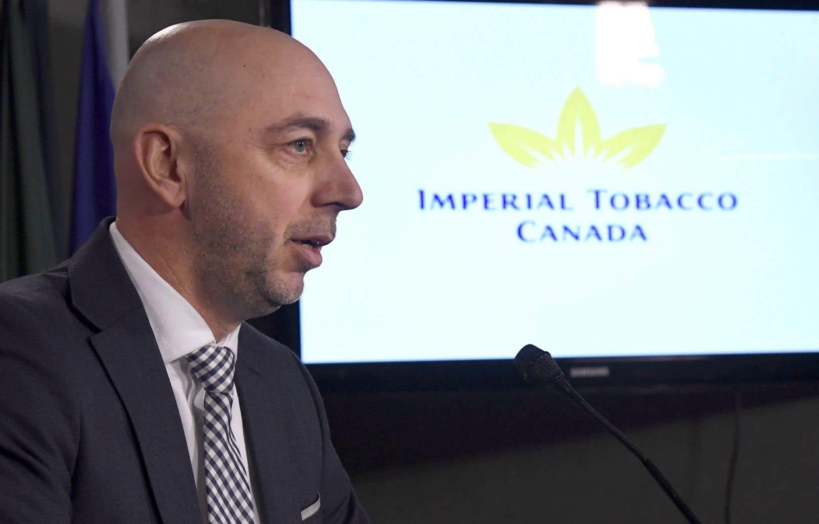 Éric Gagnon, directeur principal aux affaires corporatives d'Imperial Tobacco Canada