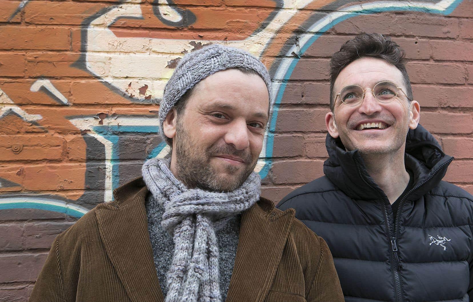 Le réalisateur François Delisle (à droite) et la vedette de son film «Ca$h Nexus», Alexandre Castonguay