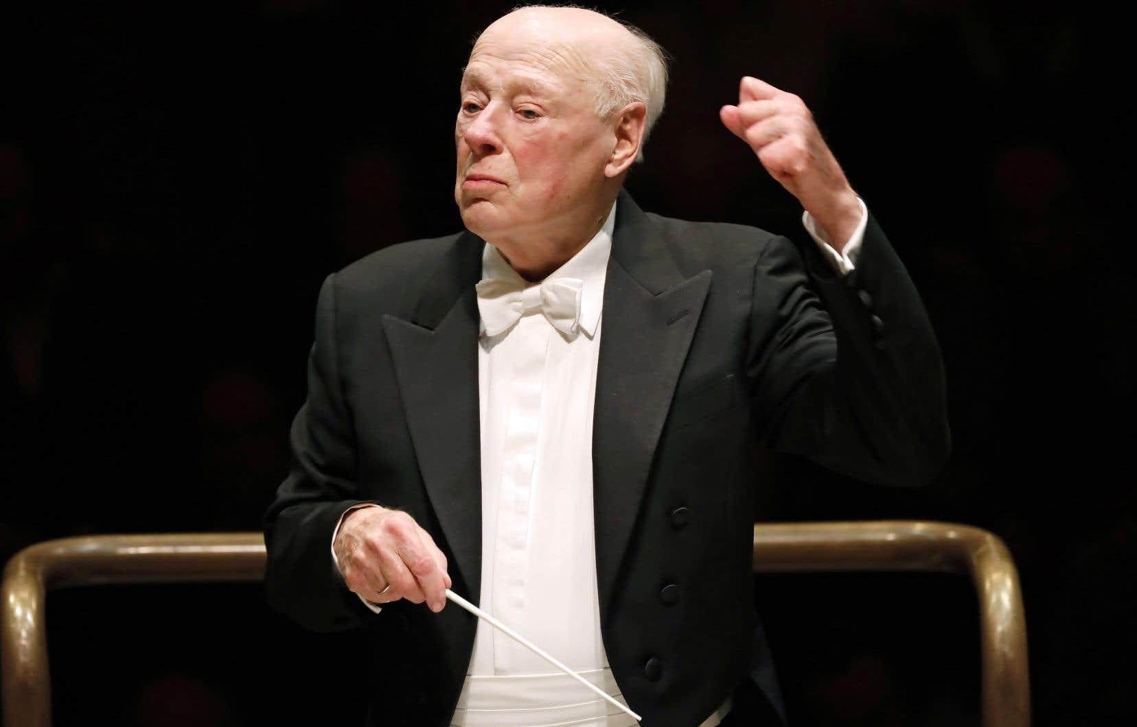 Bernard Haitink a conduit l'Orchestre symphonique de Londres le 10 mars dernier lors d'un concert célébrant ses 90 ans.