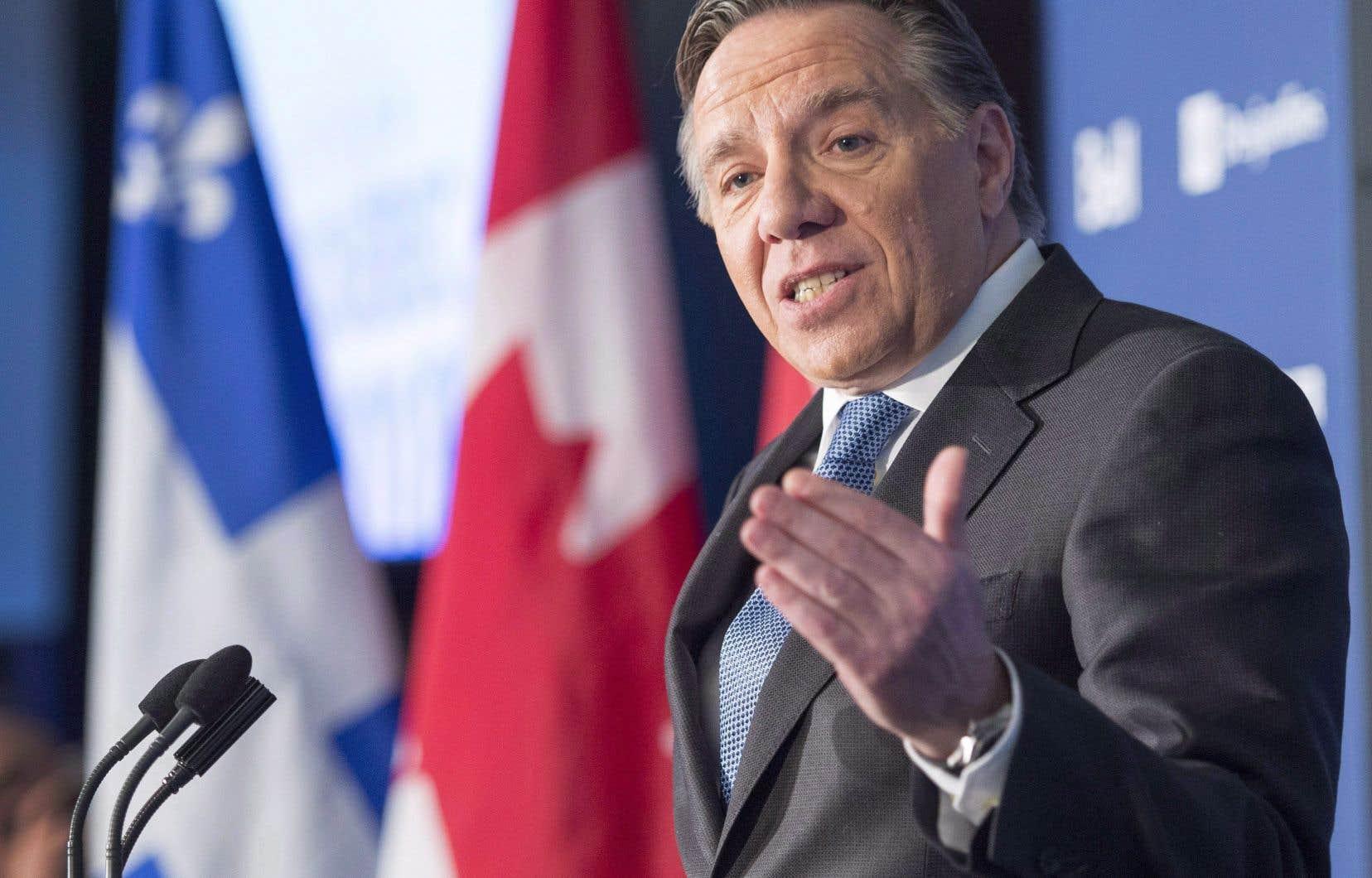 «Le premier ministre François Legault souhaite que Justin Trudeau passe de la parole aux actes», a affirmé un membre de la garde rapprochée de M.Legault.