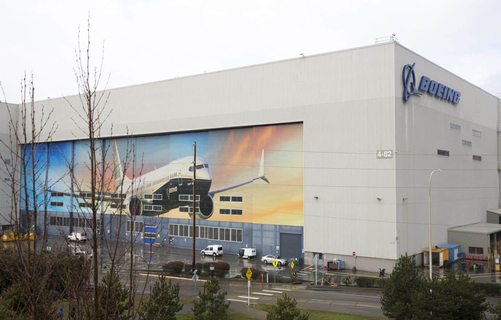 L'usine de fabrication des Boeing 737 Max 8 à Renton, dans l'État de Washington