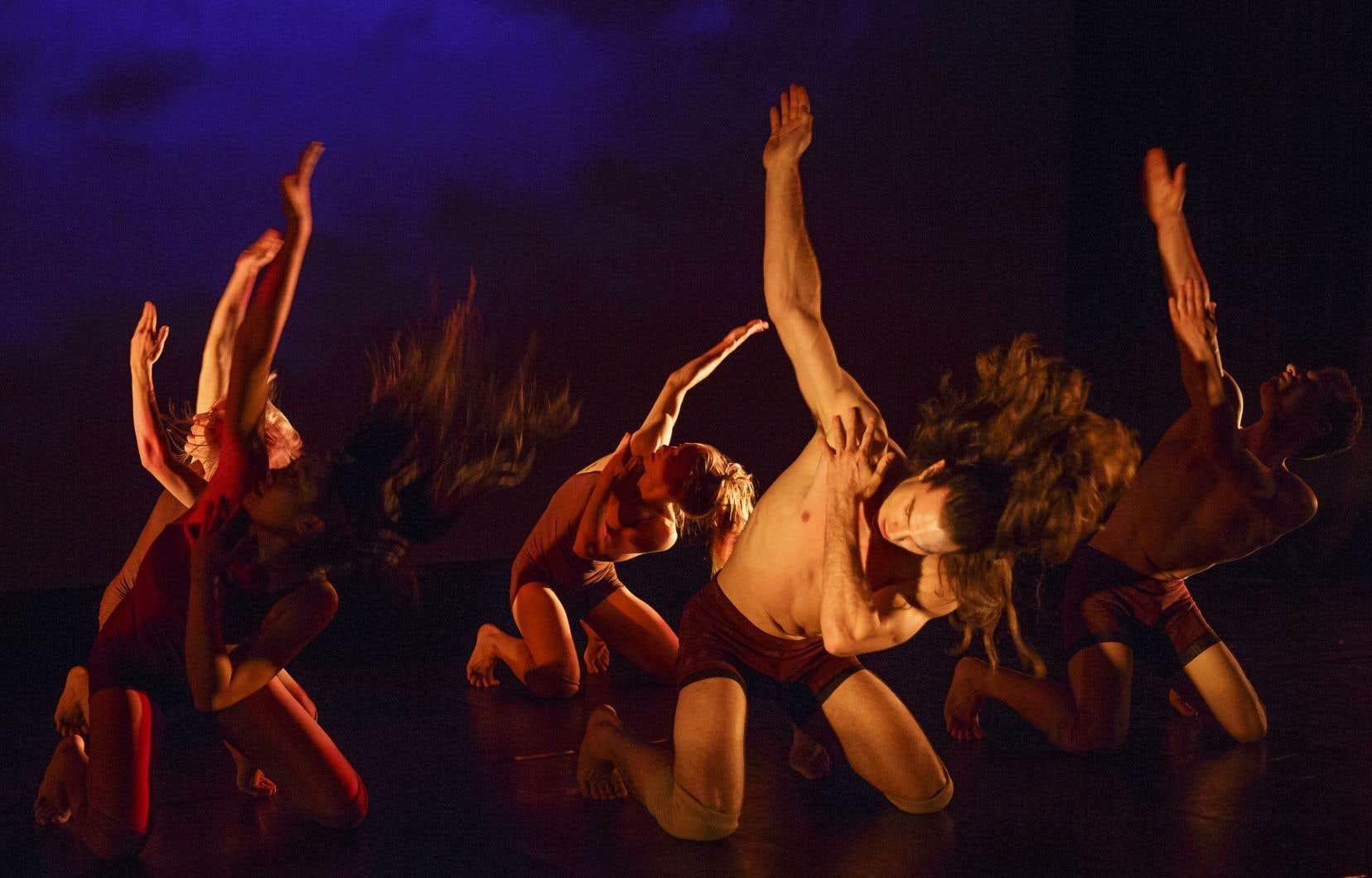 Il y a quelque chose d'épique dans la frontalité de ces mouvements d'ensemble, où chaque danseur semble devenir la vertèbre d'une colonne vertébrale collective.