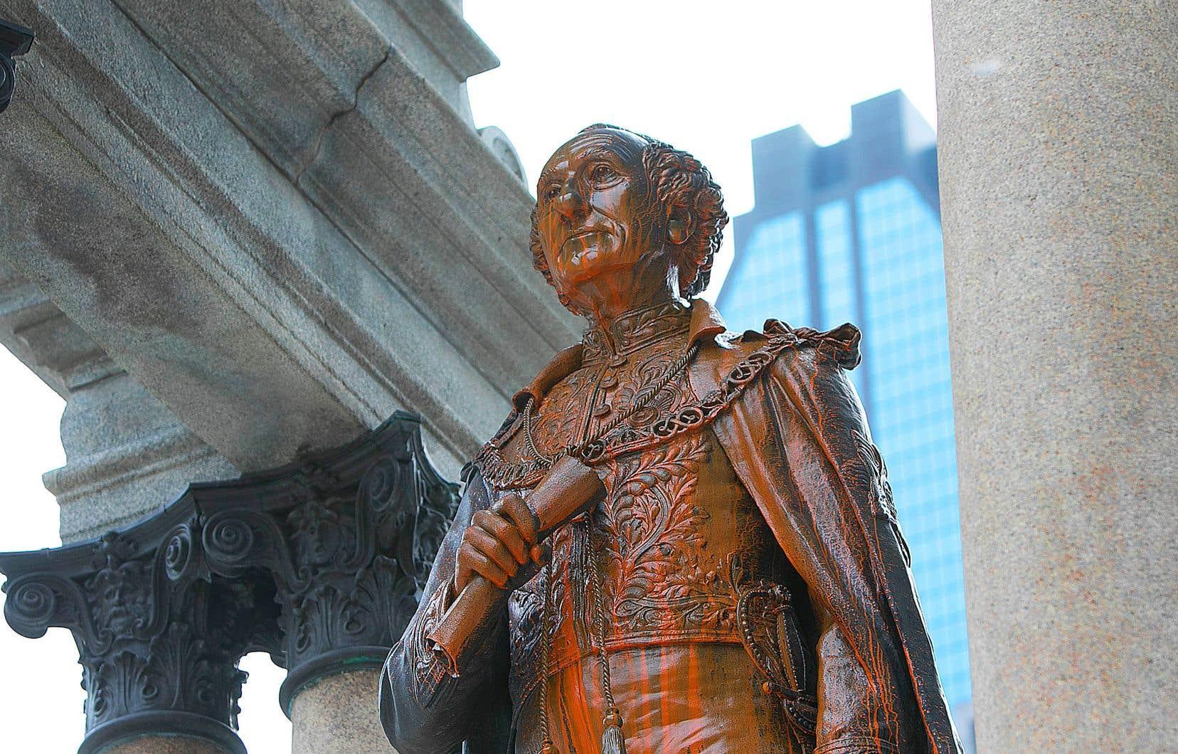 Le monument a été fréquemment ciblé par des gestes du genre au cours des 18 derniers mois.