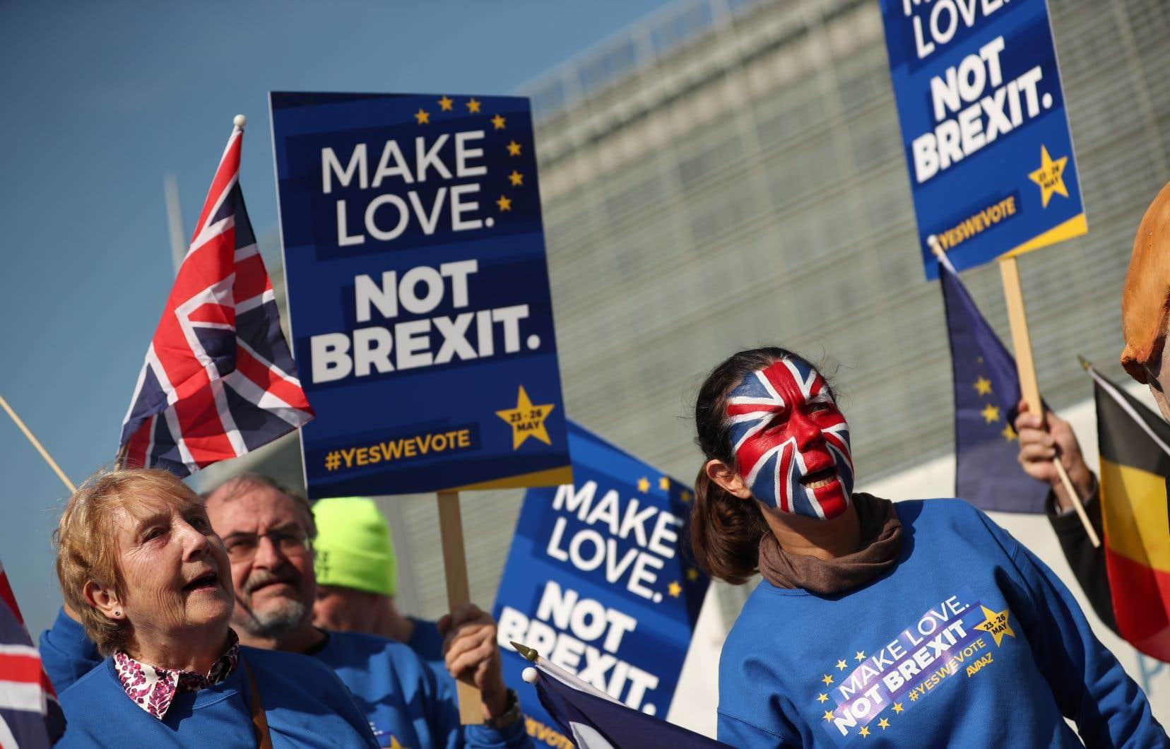La division des Britanniques est encore très forte face au Brexit, qu'une majorité de 52 % a approuvé en juin 2016 par voie référendaire.