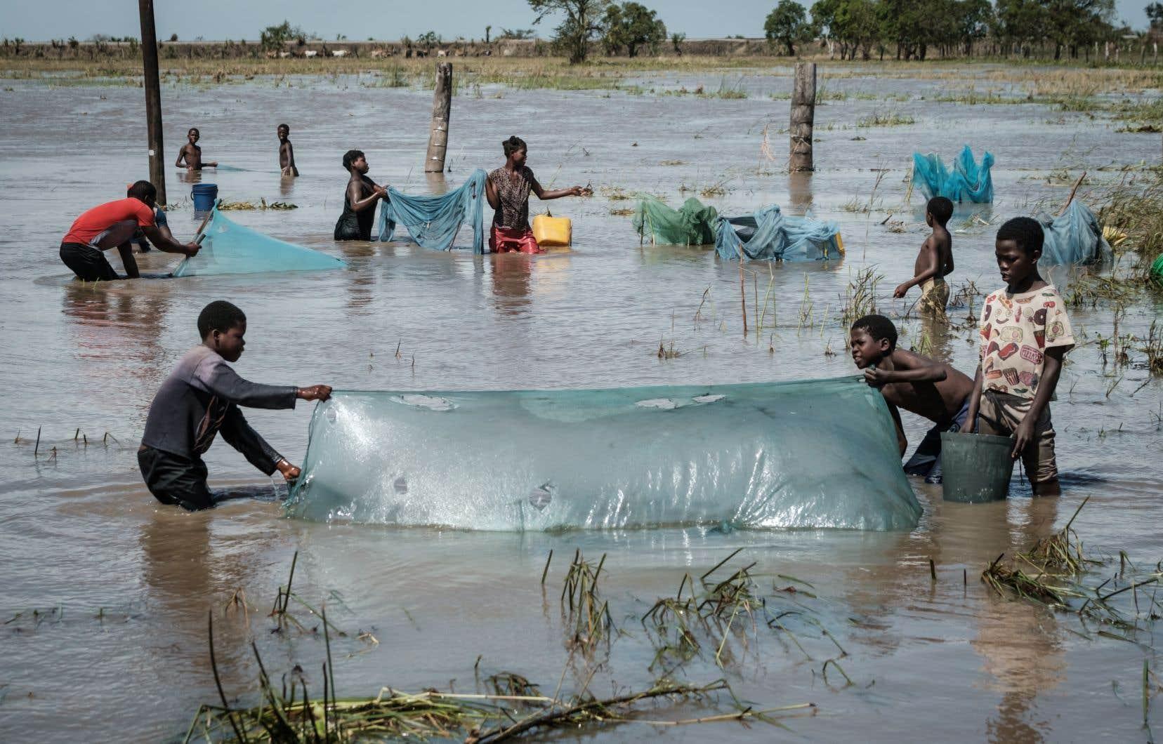 Selon des images satellites, les inondations ont formé au Mozambique un «océan intérieur» de 125km de long sur 25km de large, encore plus grand que la superficie du Luxembourg.