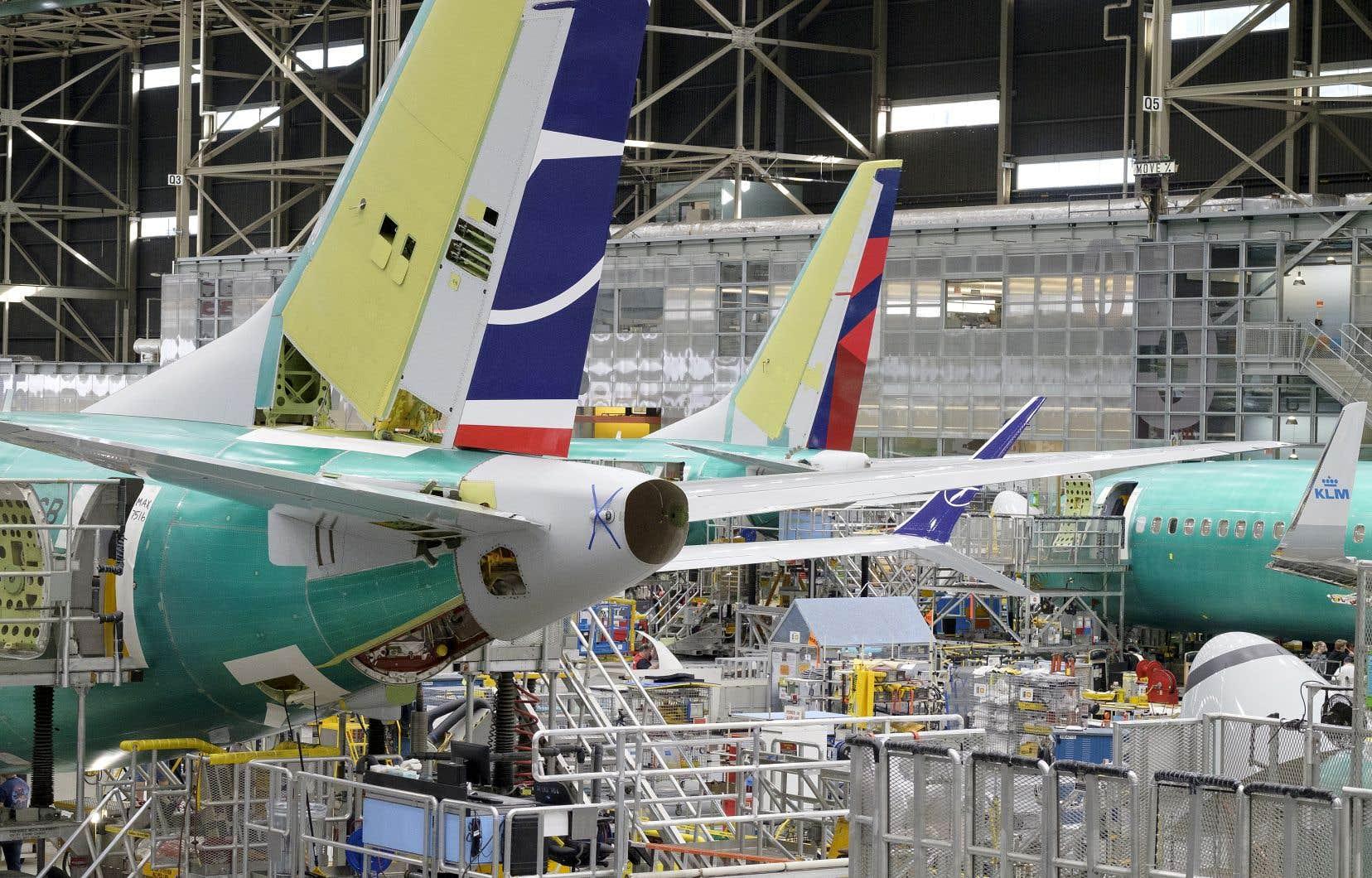 La chaîne de production du 737 MAX de Boeing, à Renton, dans l'État de Washington