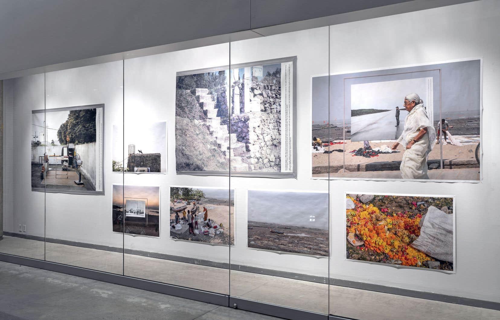 Vue de l'exposition «Les bons voisins» à la galerie FOFA de l'Université Concordia