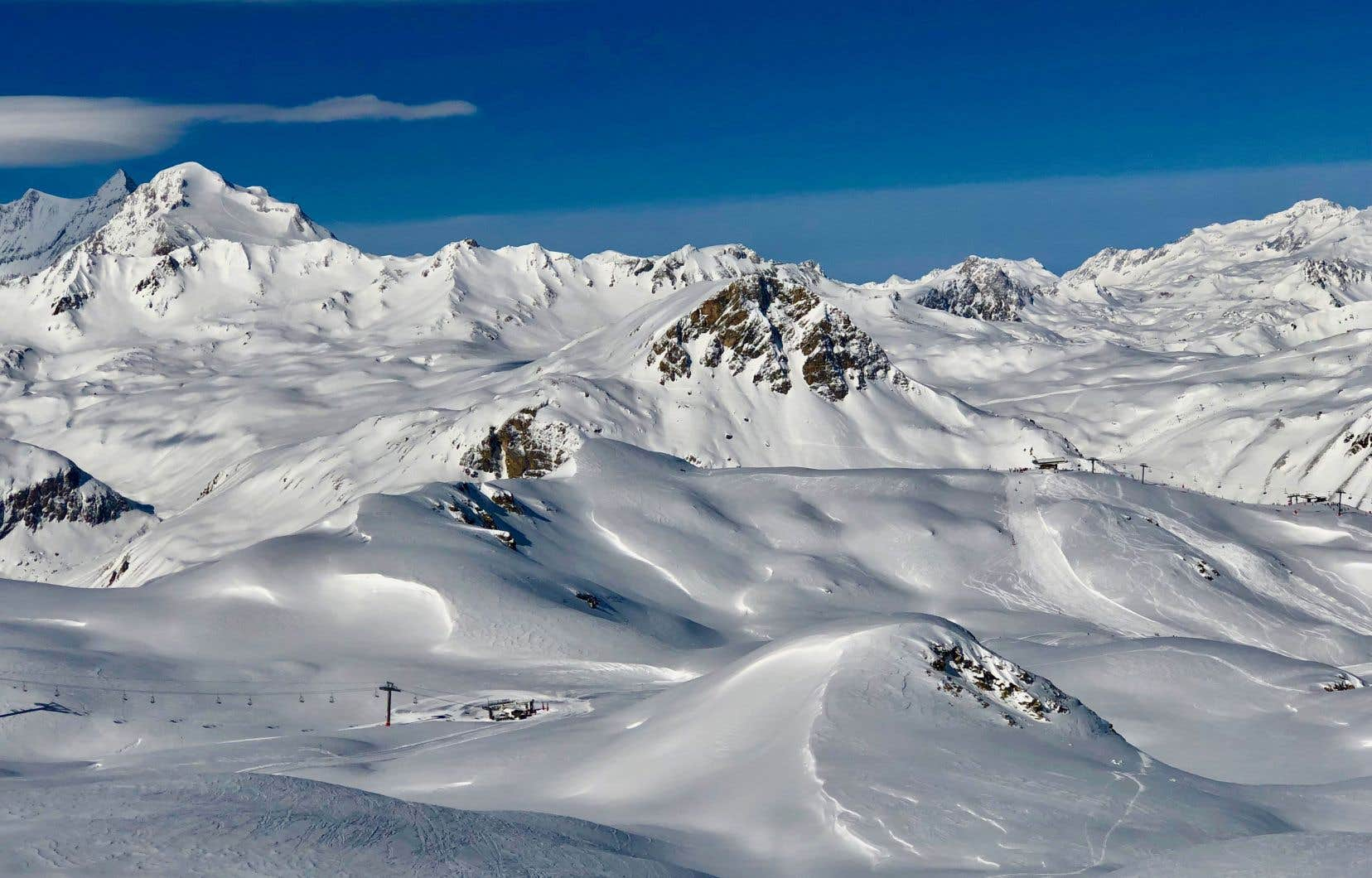 À Val-d'Isère, sur les hauteurs de Solaise