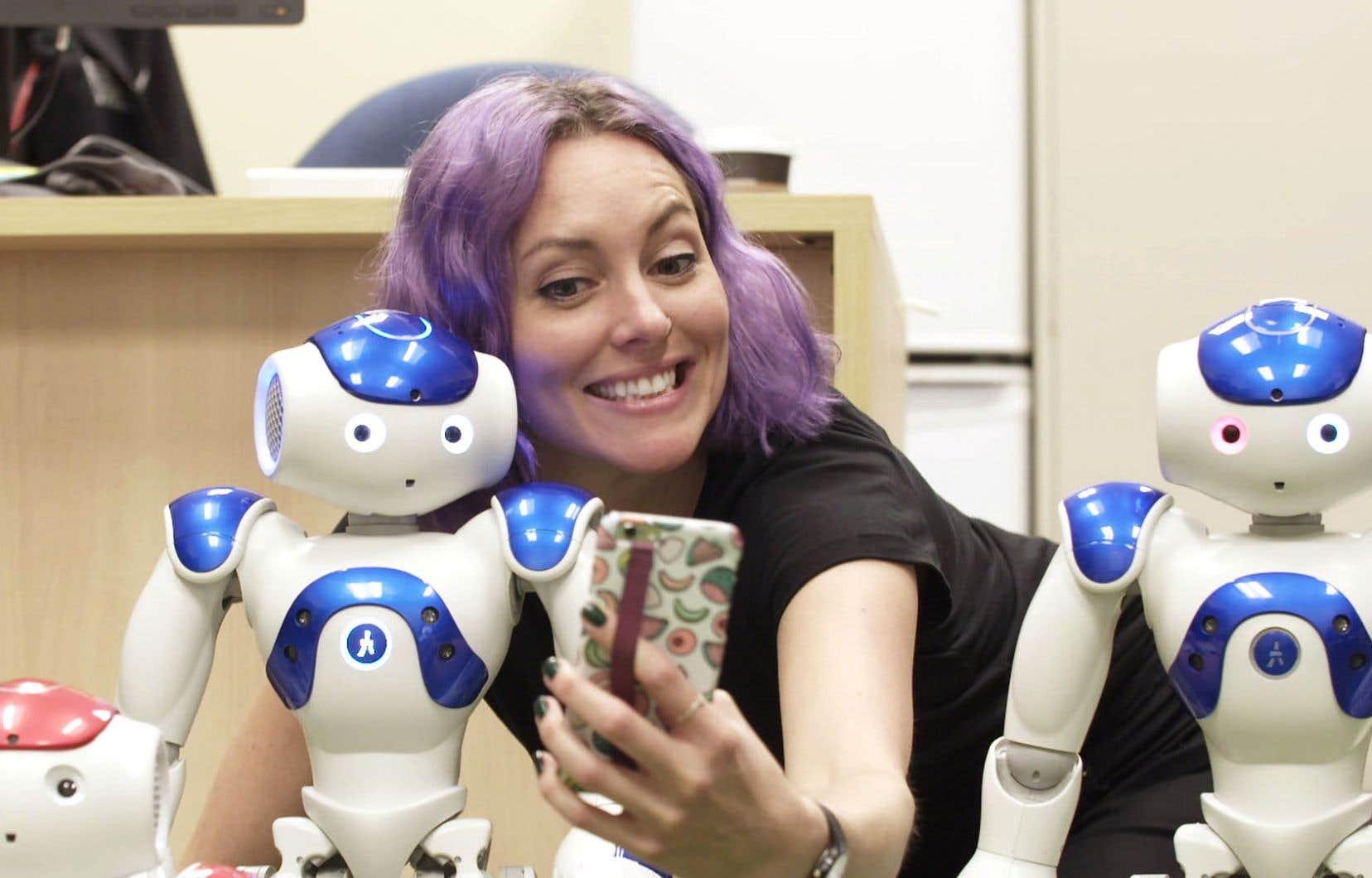 La journaliste scientifique Marianne Desautels-Marissal anime «Couple de nerds» avec Matthieu Dugal.