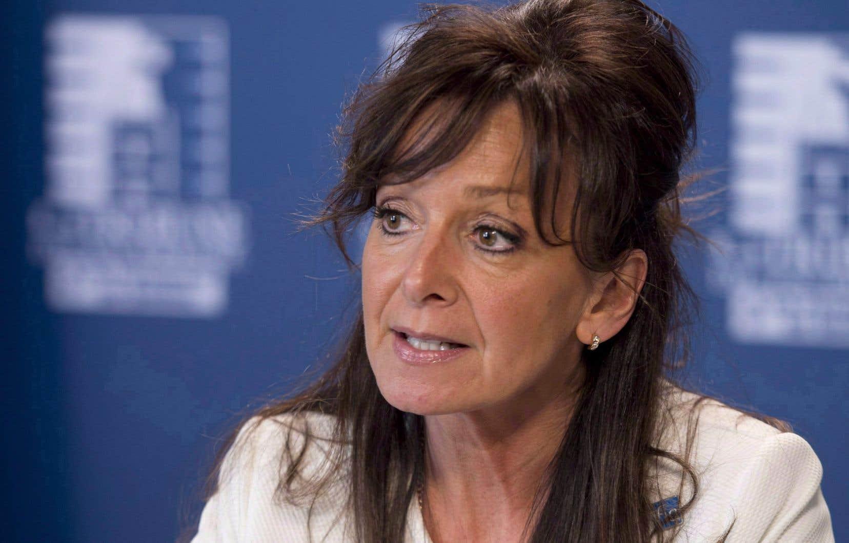 La présidente de la Fédération interprofessionnelle de la santé (FIQ), Nancy Bédard