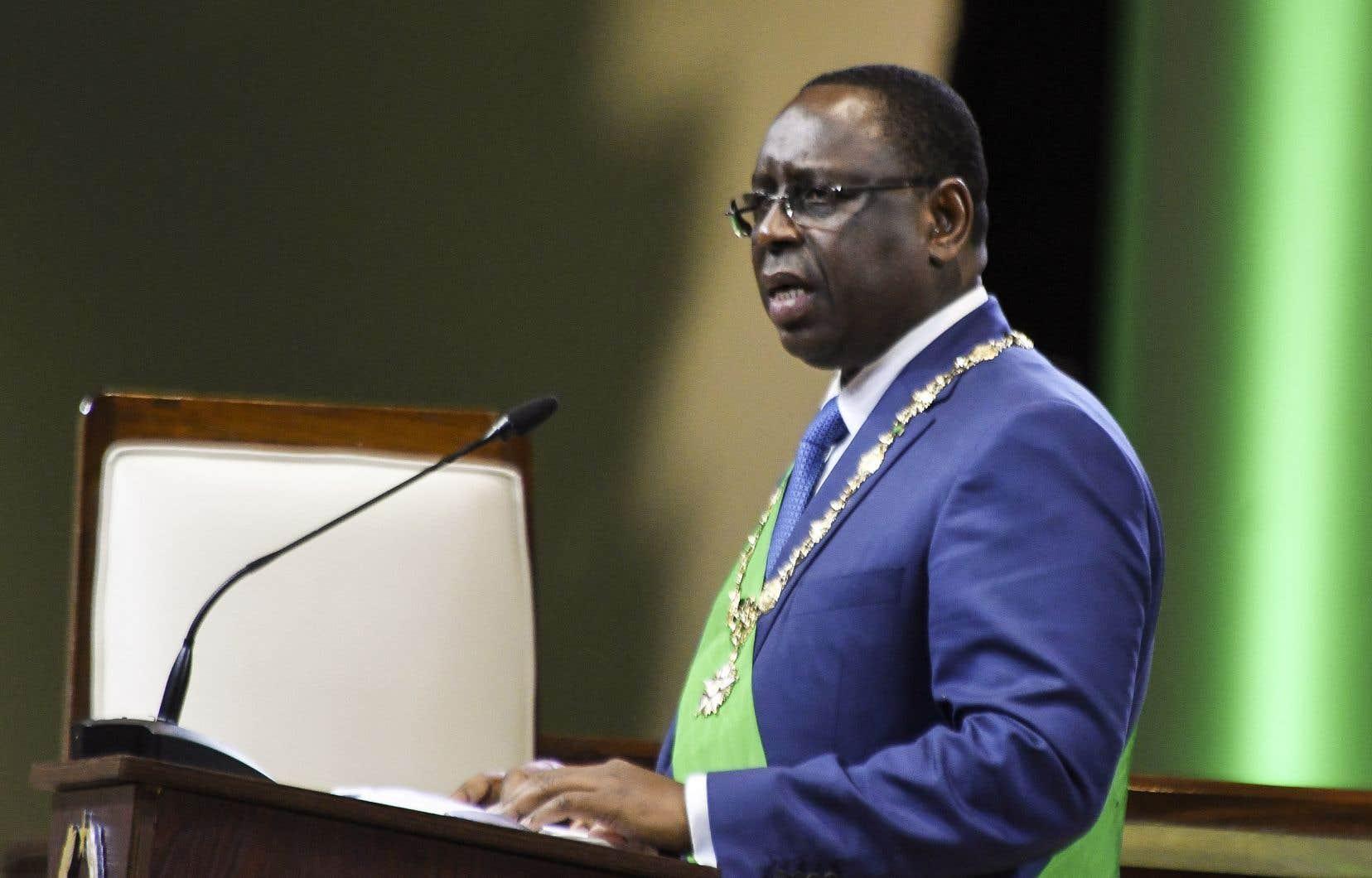 Macky Sall, 57ans, a vu dans sa réélection la validation de son plan Sénégal émergent, qui s'est notamment traduit par une politique de grands travaux.
