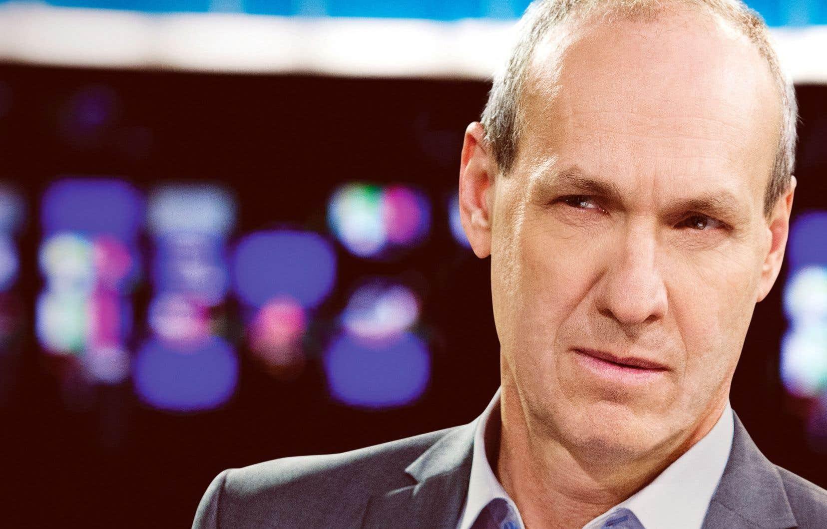 Alain Gravel en avril 2014, alors qu'il était à la barre de l'émission «Enquête».
