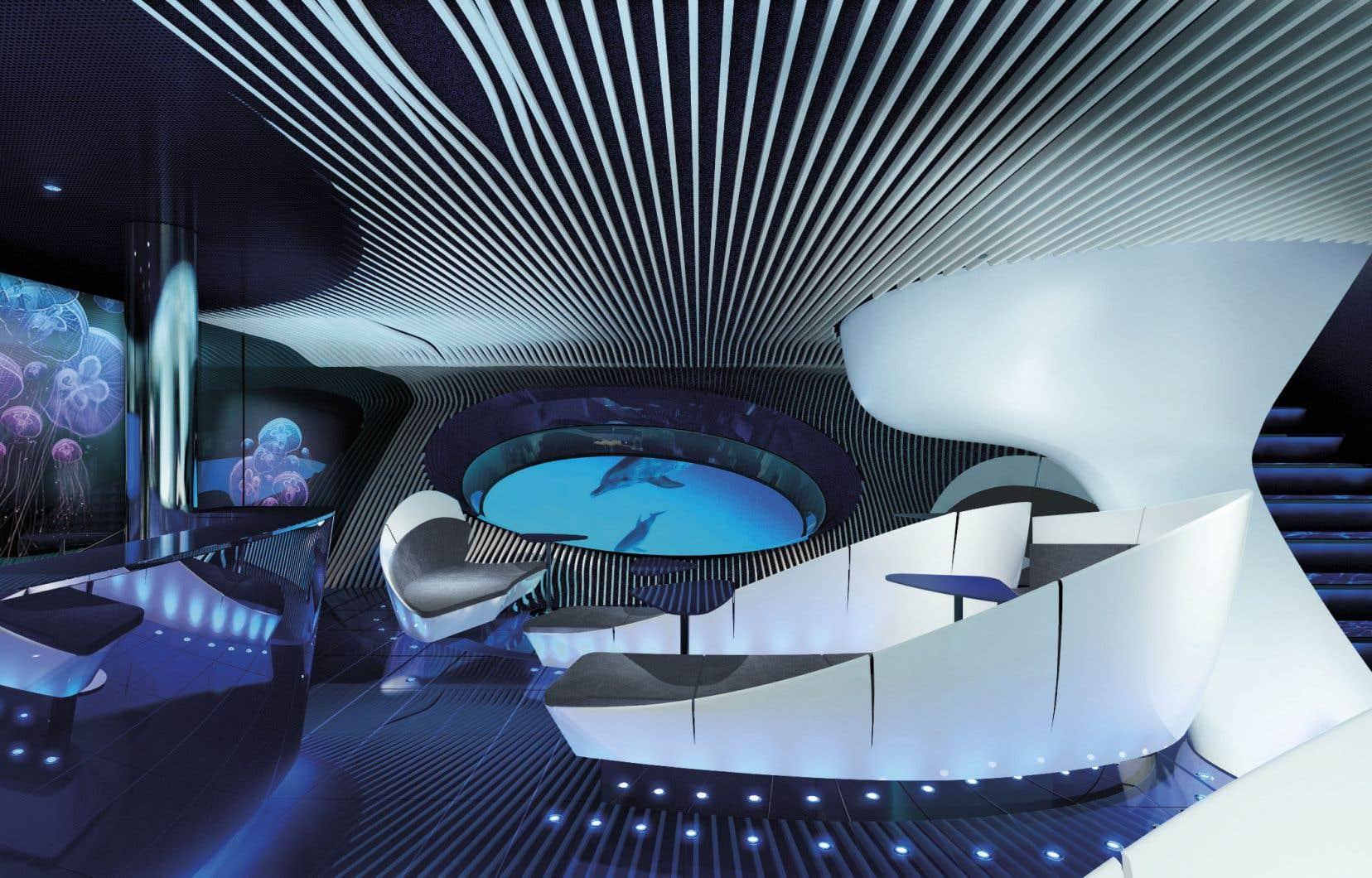Le salon Blue Eye des nouveaux navires Explorer promet une expérience multisensorielle.
