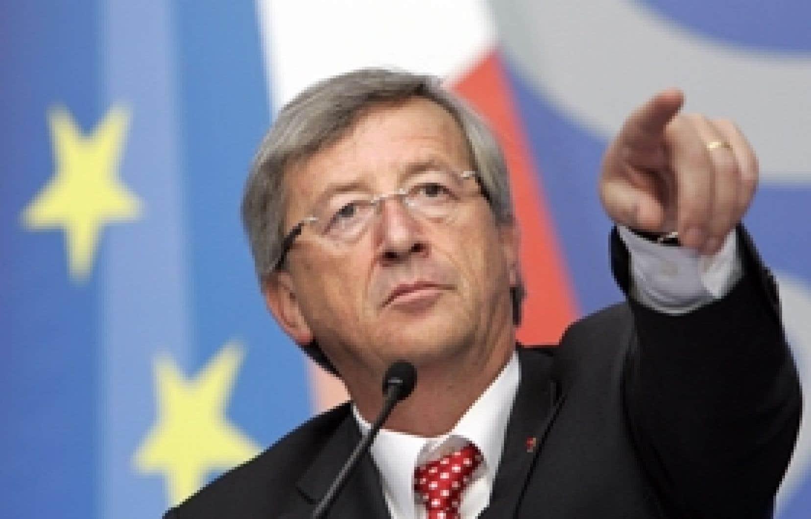 Le président de l'Eurogroupe, Jean-Claude Juncker
