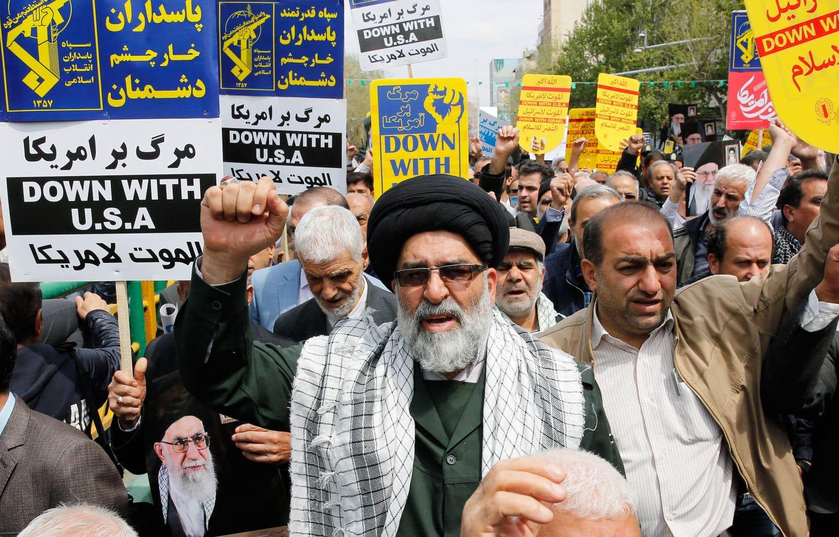 Des Iraniens participaient à une manifestation anti-américaine à Téhéran, vendredi.