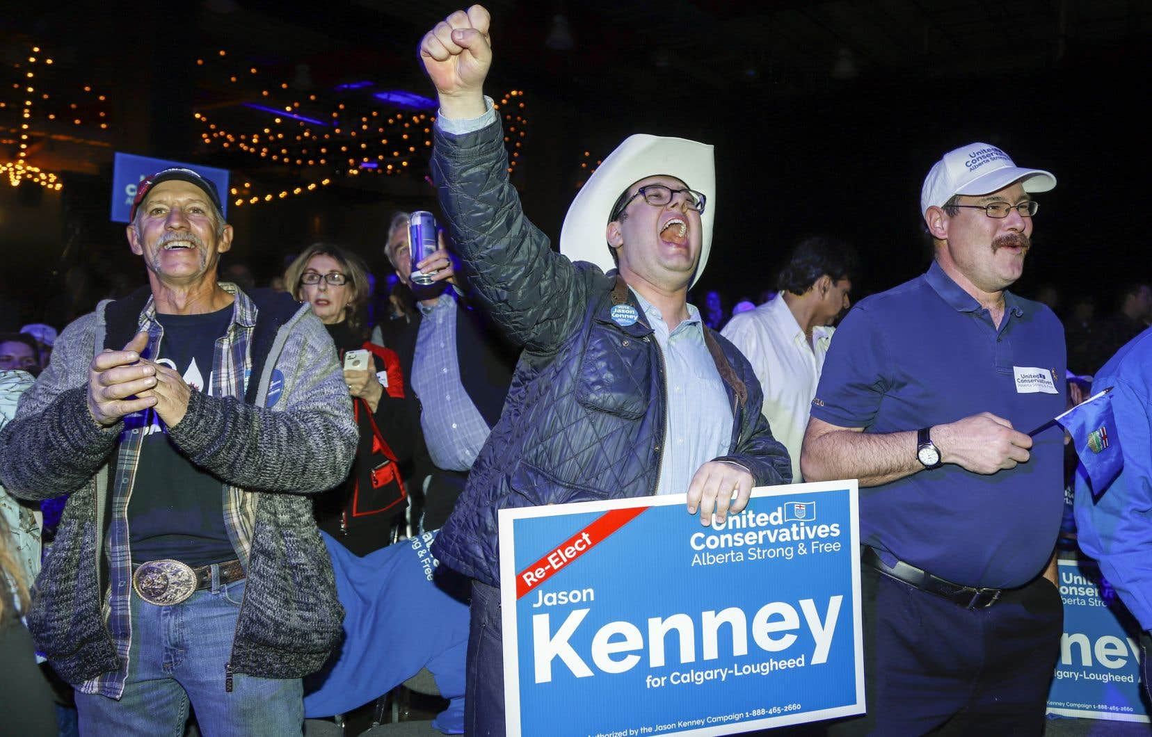 C'était la fête pour les partisans de Jason Kenney qui conserve son siège à Calgary-Lougheed. Il s'agissait des premières élections provinciales générales pour M.Kenney.