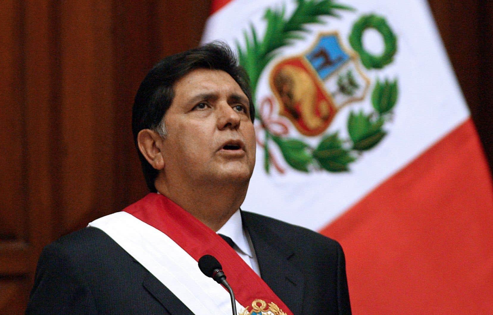 L'ex-président du Pérou Alan Garcia