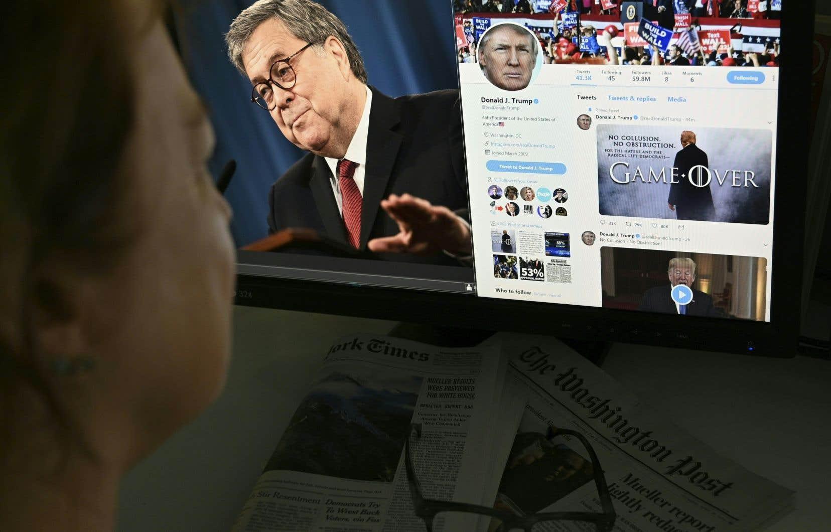 La version expurgée du rapport d'enquête de Robert Mueller a été publiée ce matin.
