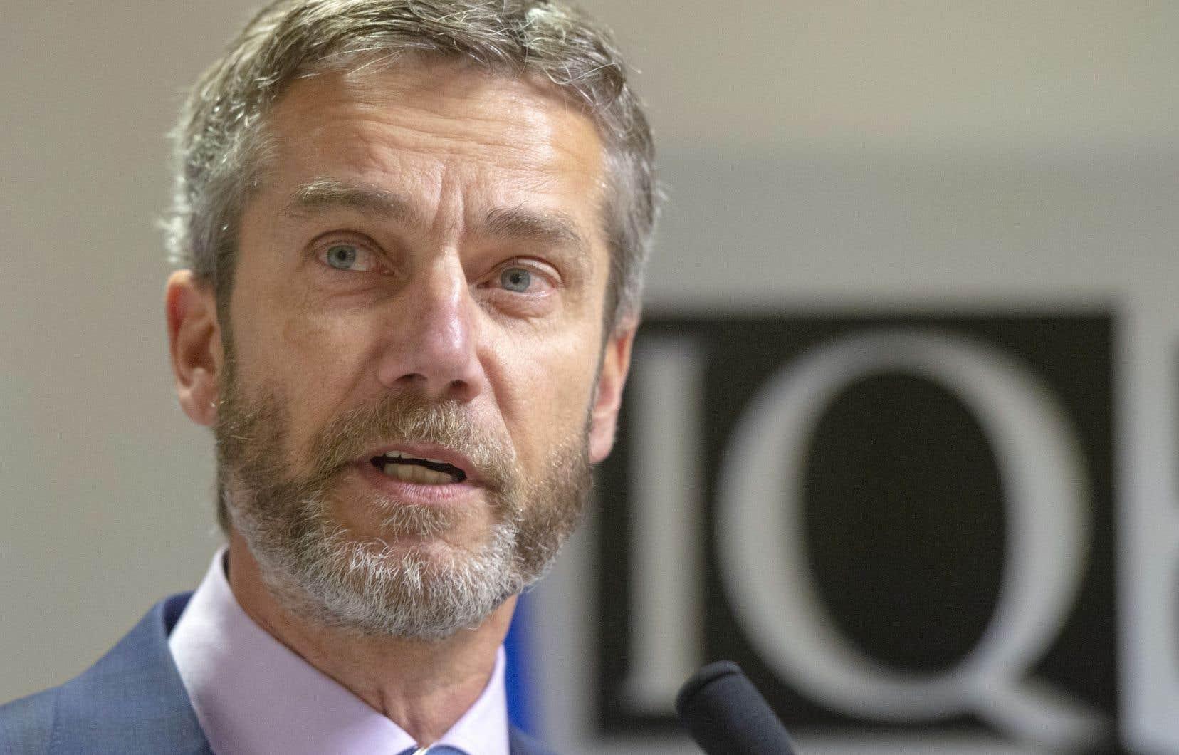 Le nouveau président d'Investissement Québec, Guy LeBlanc, jeudi