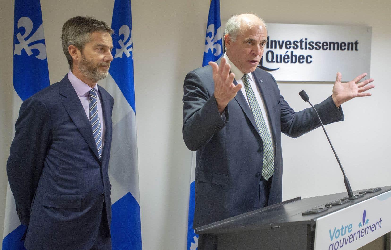 Le ministre de l'Économie, Pierre Fitzgibbon, a nommé jeudi son ami et partenaire d'affaires Guy LeBlanc à la tête d'Investissement Québec, le bras financier du gouvernement.
