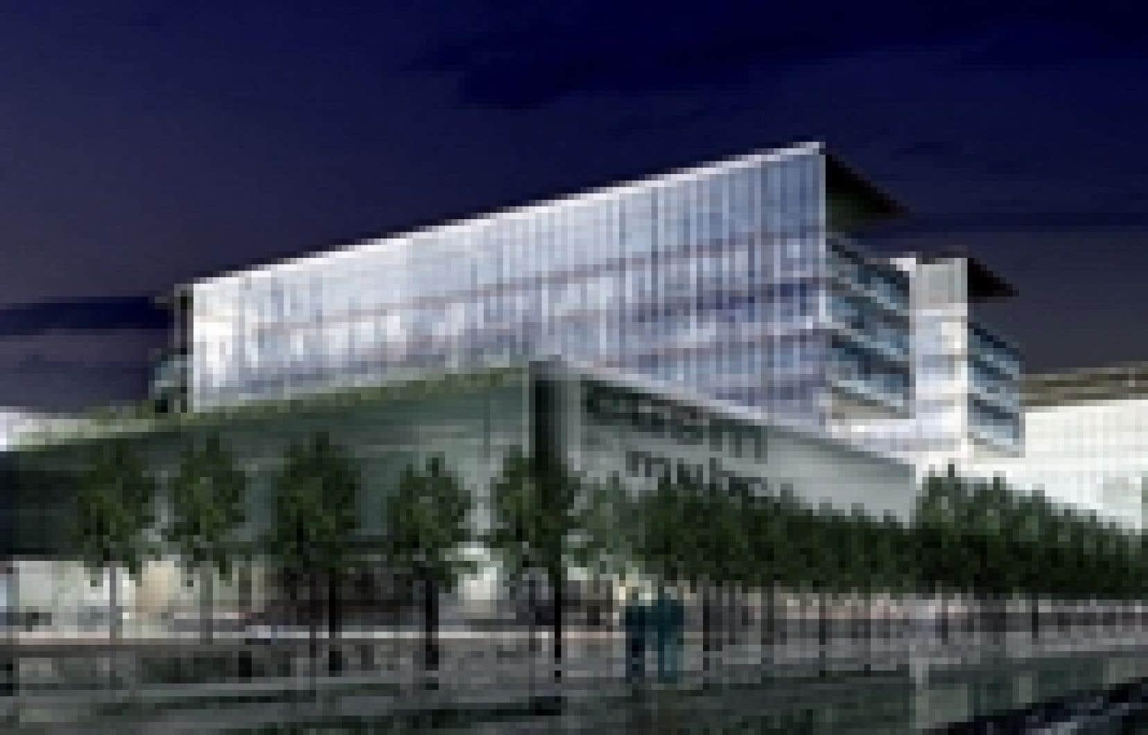 L'ancienne gare de triage Glen où sera construit le futur Centre universitaire de santé McGill (CUSM)