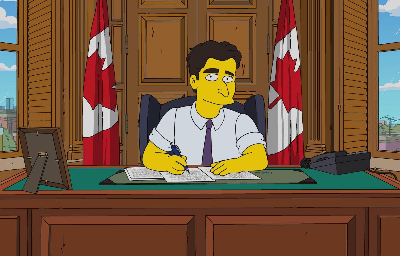 Dans cet épisode, le personnage de Justin Trudeau s'entretient brièvement avec Lisa Simpson.