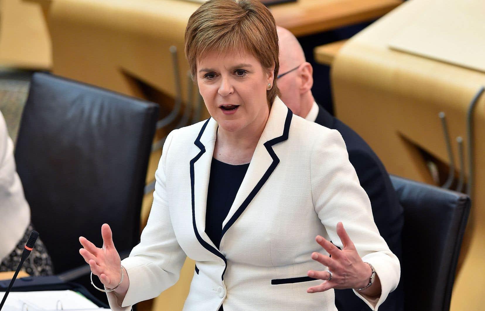 La première ministre écossaise, Nicola Sturgeon, mercredi