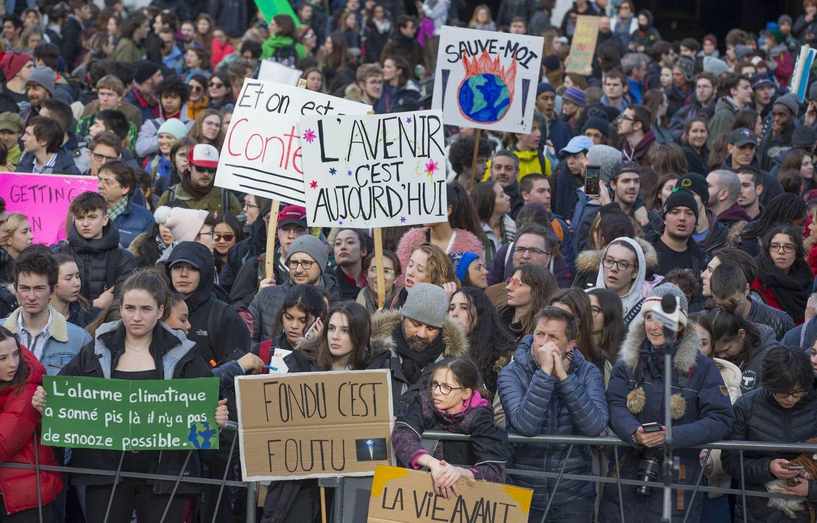 Les étudiants ont manifesté pour le climat le 15 avril 2019