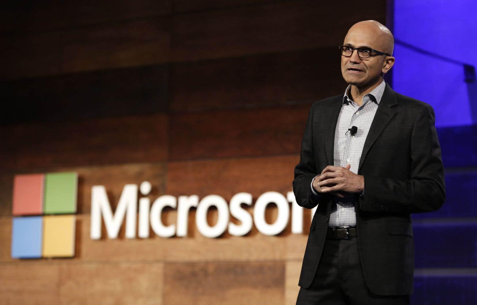 Le p.-d.g. de Microsoft, Satya Nadella