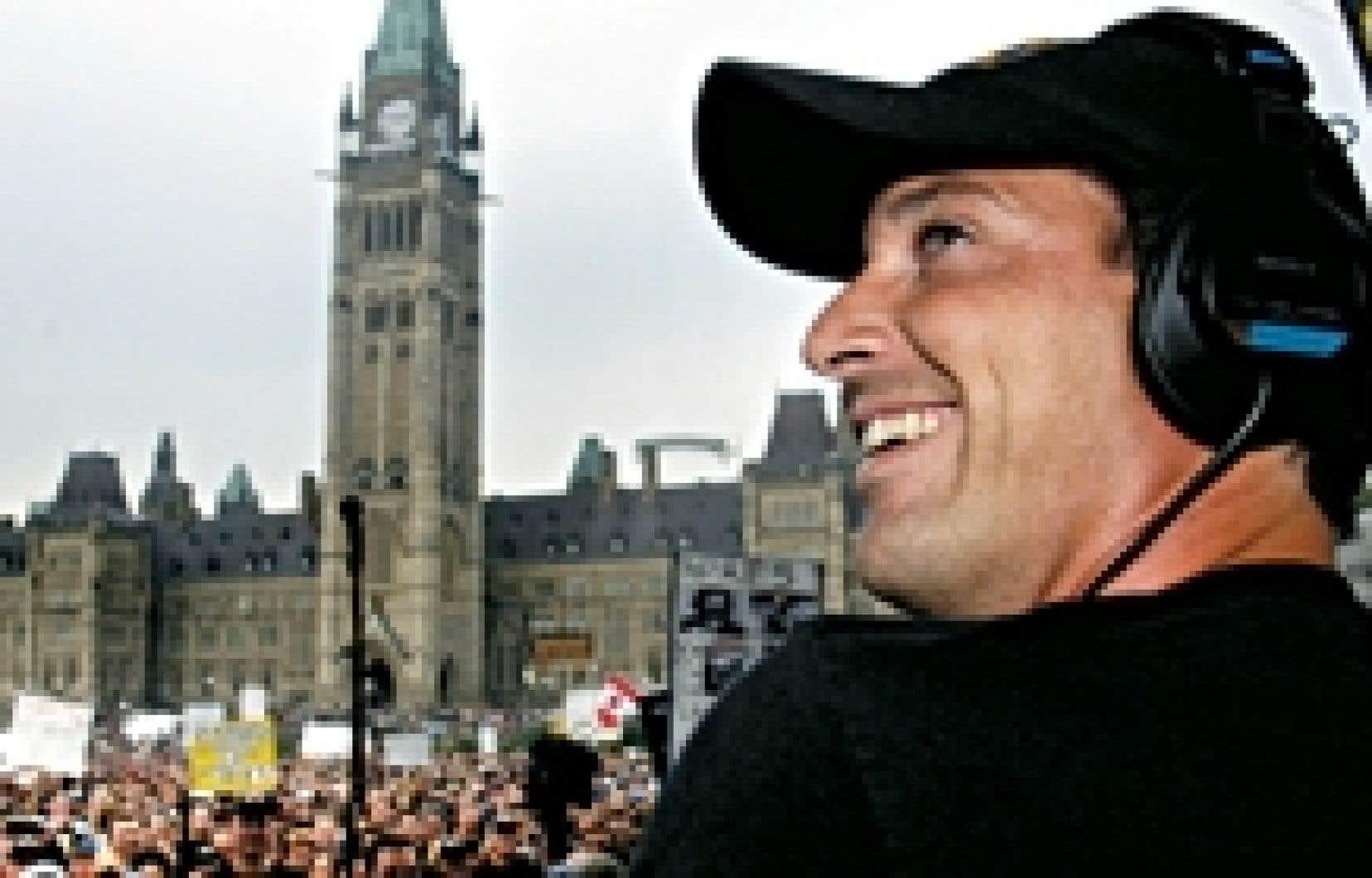 L'animateur de radio Jeff Fillion avait accompagné ses partisans sur la colline parlementaire à Ottawa, en août 2004