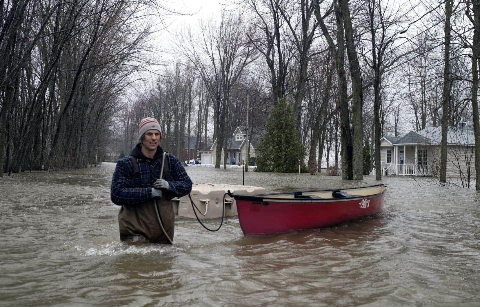 Inondations à Saint-André-d'Argenteuil, le vendredi 26 avril 2019.