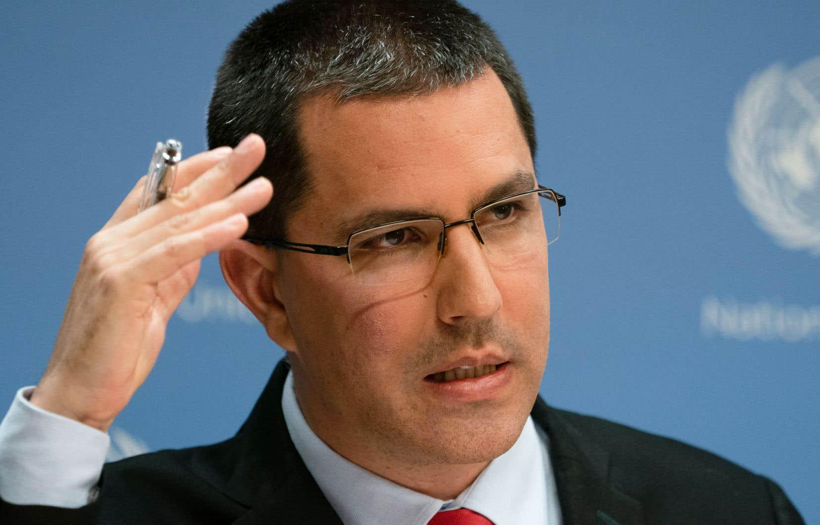 Le ministre vénézuélien des Affaires étrangères, Jorge Arreaza