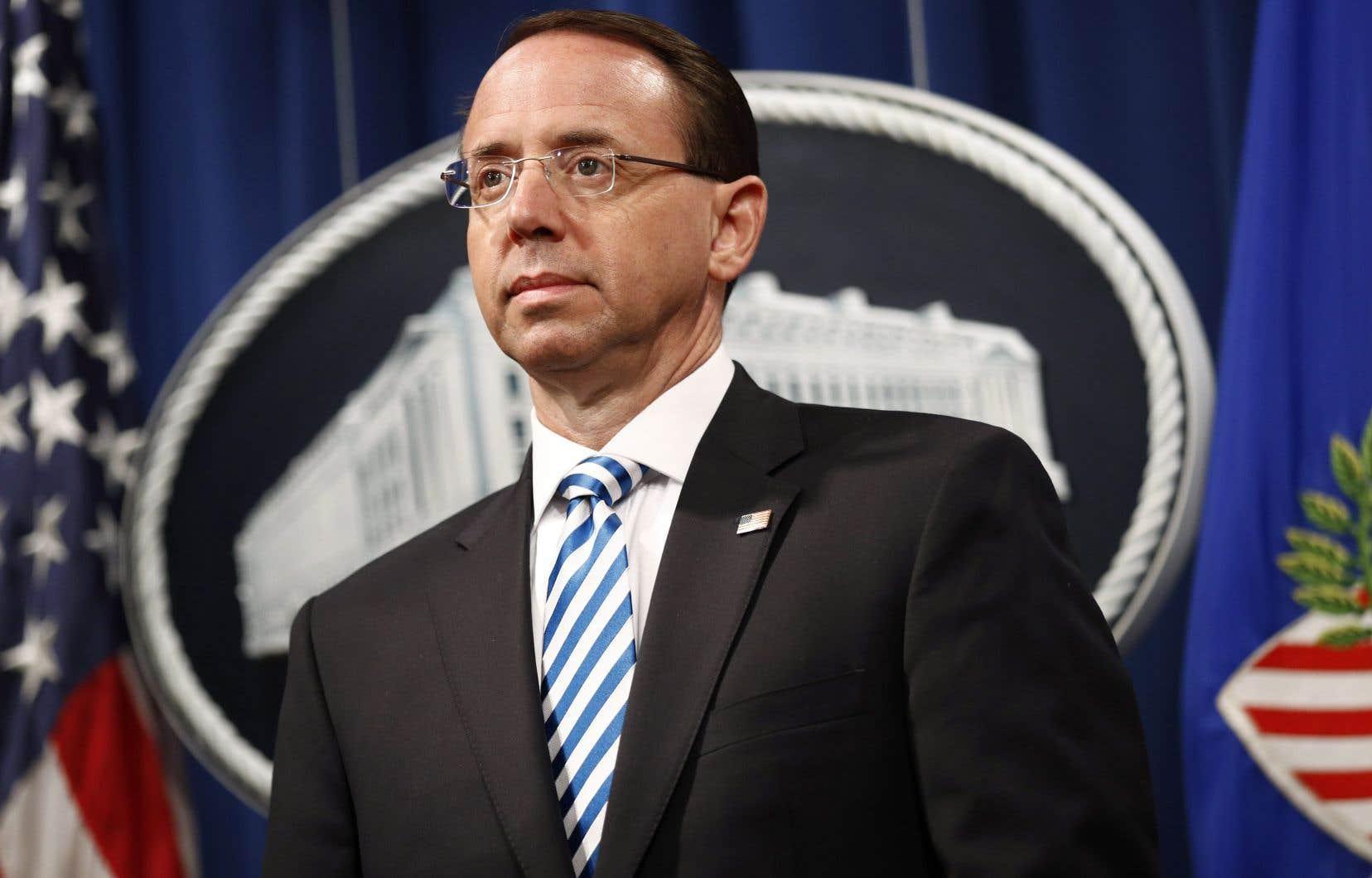 Le numéro deux du département américain de la Justice, Rod Rosenstein, a annoncé sa démission lundi.