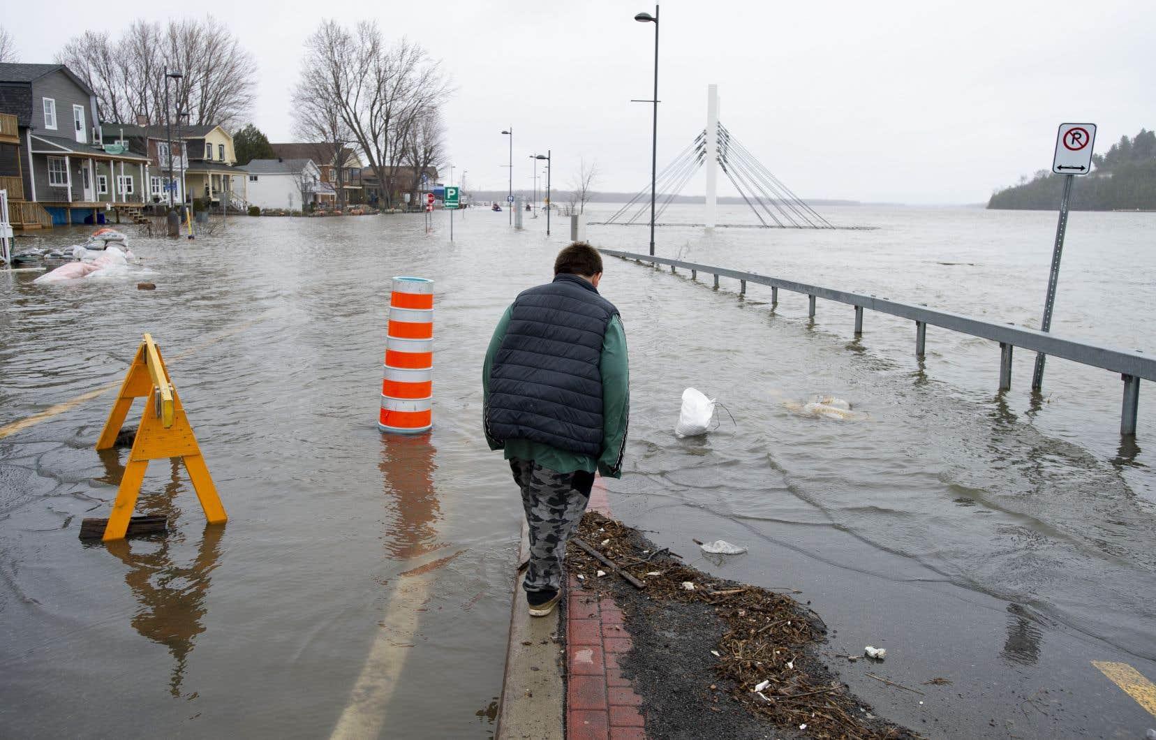Dans la région de Gatineau, le niveau de la rivière pourrait atteindre 45,5 mètres à sa période de pointe.