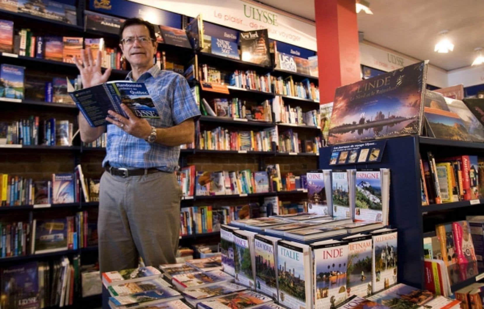 L'entrepreneur Daniel Desjardins a eu l'idée de ce qui deviendra la librairie de voyage Ulysse à l'âge de 24 ans. <br />