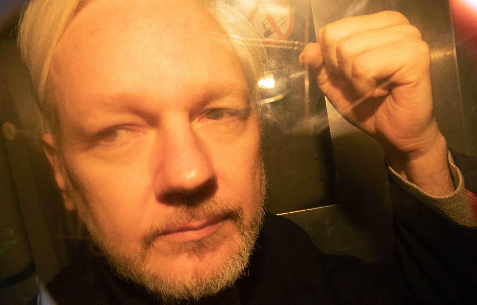 Julian Assange s'étaitréfugié pendant sept ans dans l'ambassade d'Équateur à Londres.