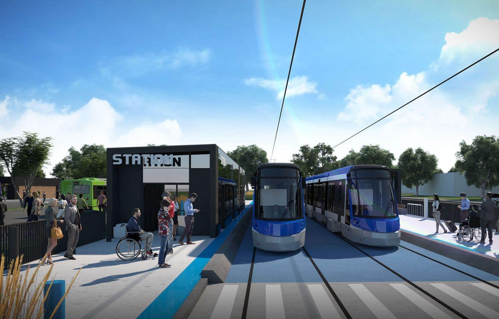 La contribution du gouvernement fédéral dans le projet de transport structurant de la Ville de Québec est évaluée à 1,2 milliard.